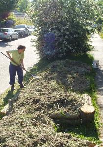 Urban Hugelkultur Raised Garden Beds