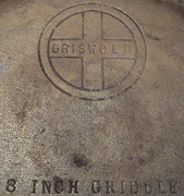 griswold cast iron griddle emblem