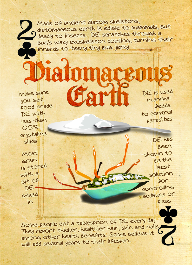 diatomaceous earth playing card
