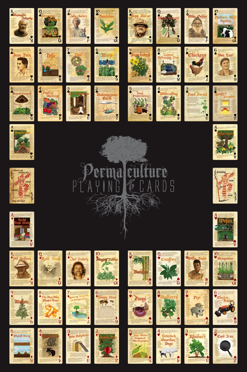 permaculture playing card poster