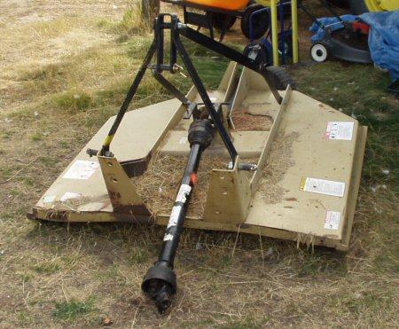 bush hog hook up Bush hog 286 rotary cutter, single tail wheel, 3pt hook-up.